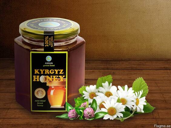 "Natural pure mountain honey ""Kyrgyz Honey"""