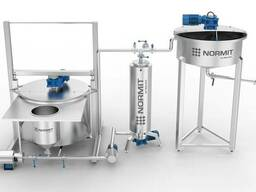 Technological line for yoghurt processing