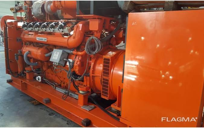 Б/У газовый двигатель Guascor SFGLD 360, 600 Квт, 2000 г. в.