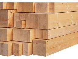 Брус , пиломатериал древесина хвойных пород