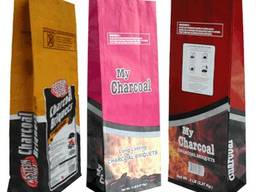 Charcoal for barbecue and restorations