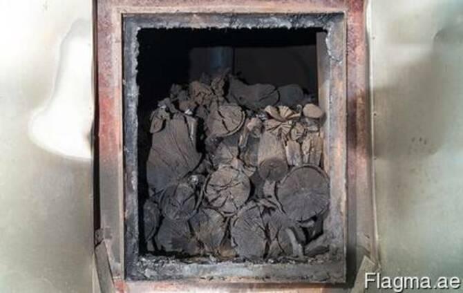 Фасованный древесный уголь в бумажных крафт-пакетах