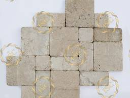 Paving stones made of natural stones