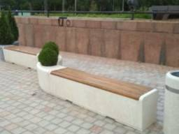 Street furniture from marble stone