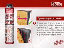 Строительный клей теплоизоляции Teplis Spiderweb 1000 мл. - фото 3